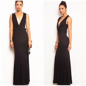 Grecian Bodycon Draped Greek Knot Maxi Dress